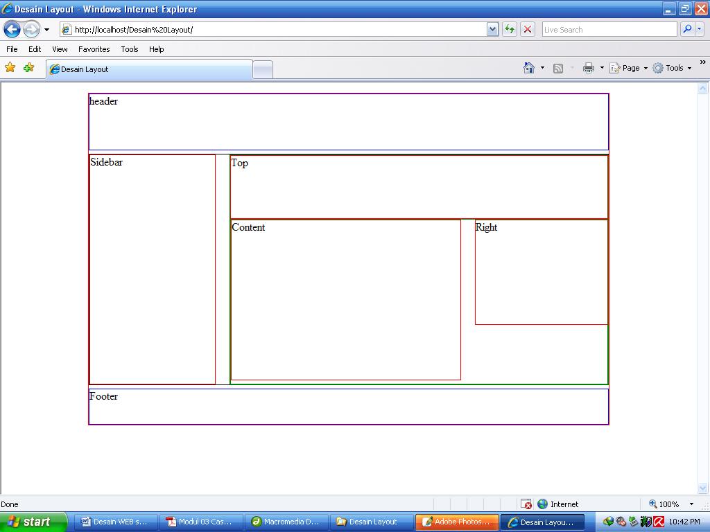 Desain web sederhana dengan css bagian 1 orangpinggiran - Css wrapper div ...